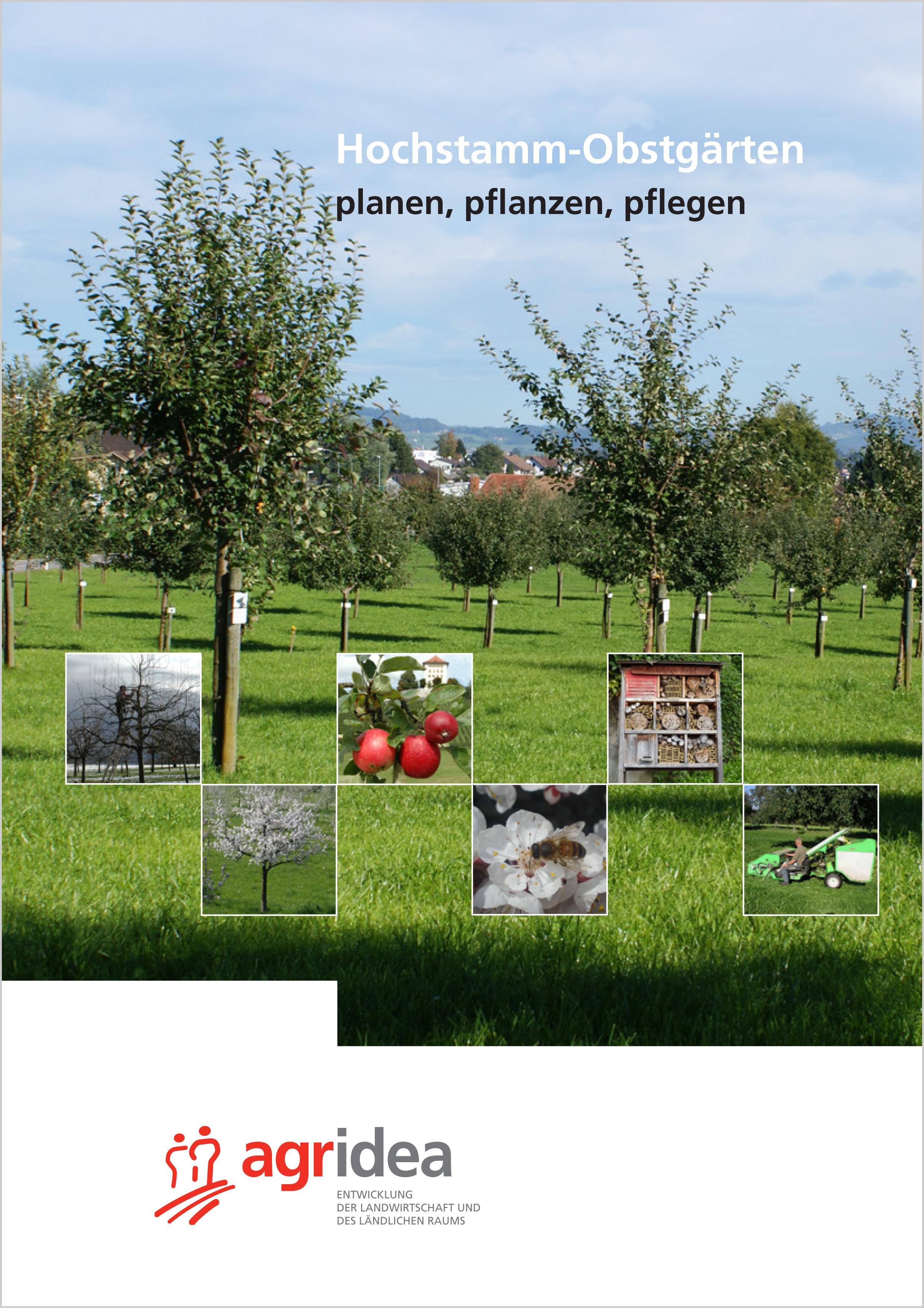 Titelseite: Hochstammbroschüre Agridea