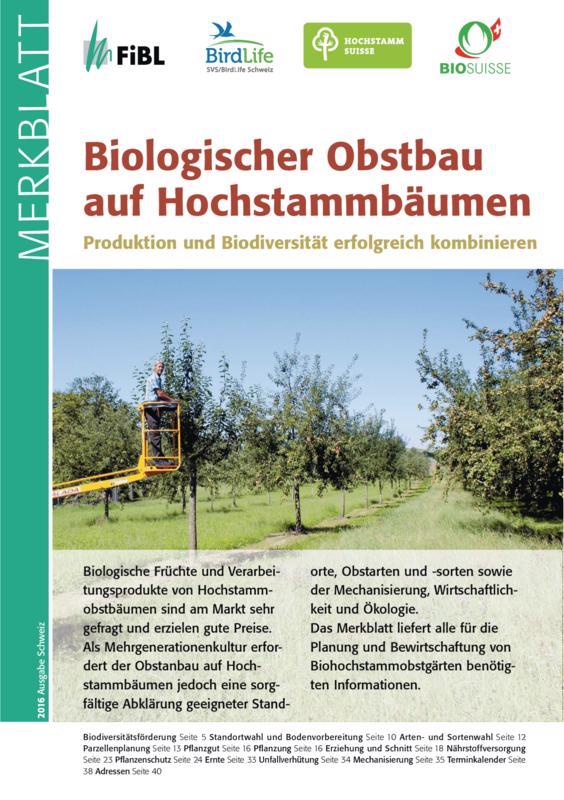 Titelseite Biologischer Obstbau auf Hochstammbäumen