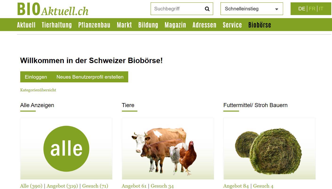 Bio Börse Schweiz (www.bioaktuell.ch)
