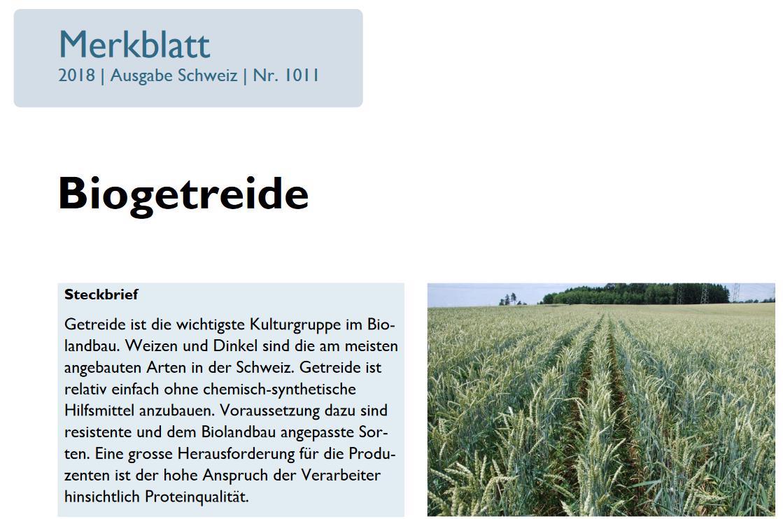FIBL Merkblatt Biogetreide